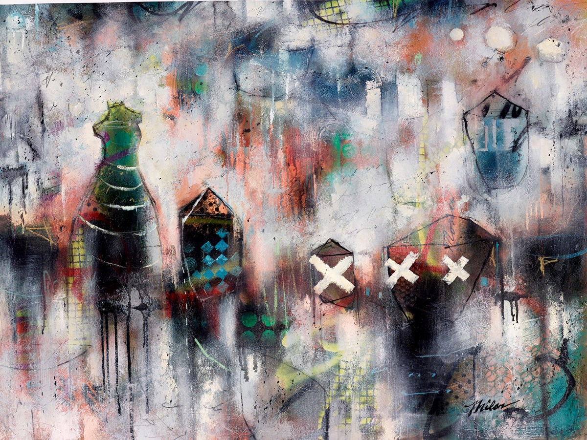 Grey Montage VI (RR) by john and elli milan -  sized 40x30 inches. Available from Whitewall Galleries